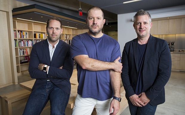 Alan Dye, Jony Ive and Richard Howe. Picture courtesy of the Daily Telegraph